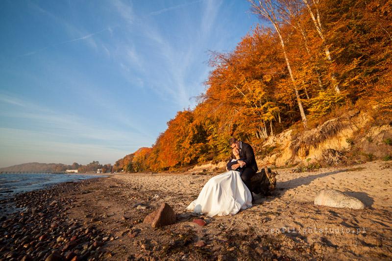 Sesja ślubna na plaży w Gdynia Orłowo