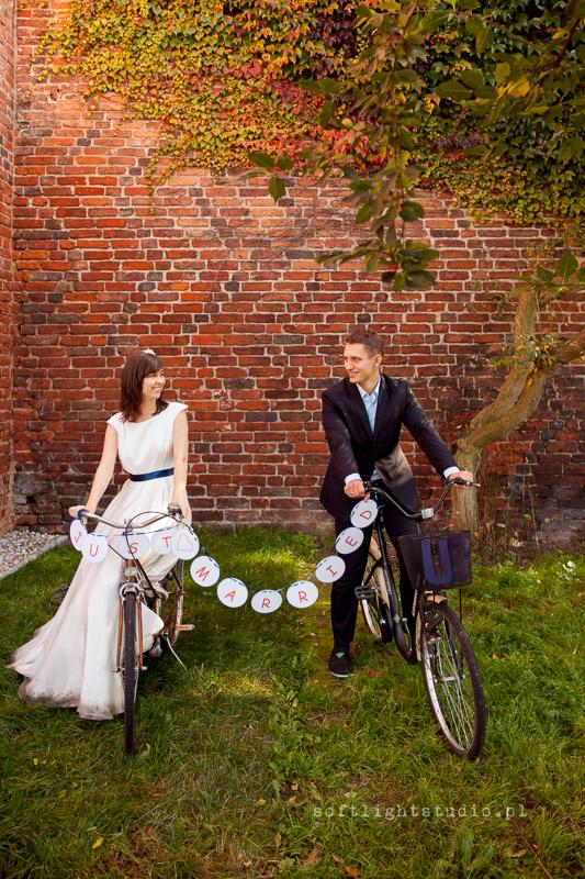 Fotografia ślubna na rowerach