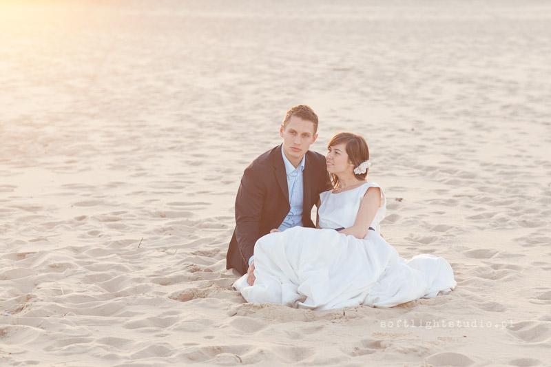 Sesja ślubna nad morzem plaża Gdańsk Stogi
